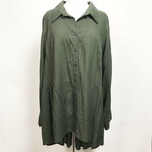 City Chic Womens Top Green Black Size L/20